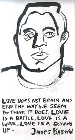 James Baldwin 3, America Martin_Ink on Paper_2020- portion of sale to ACLU/NAACP