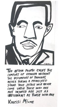 Kweisi Mfume, America Martin_Ink on Paper_2020- portion of sale to ACLU/NAACP
