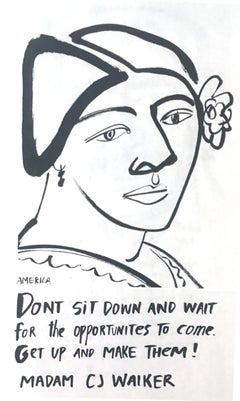Madam CJ Walker, America Martin_Ink on Paper_2020- portion of sale to ACLU/NAACP