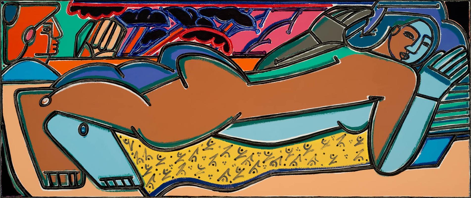 Ode to Gauguin_2021, America Martin_Oil/Acrylic/Canvas- Figurative, Nude
