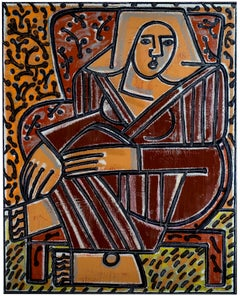 Red Chair, Red Robe (Homage to Matisse) America Martin, Female Figurative