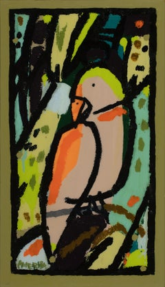 Tree Parrot_2021_America Martin_Acrylic/Oil/Canvas_Bird Painting