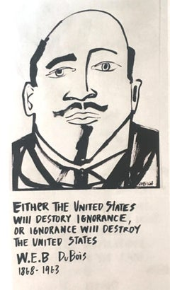 W.E.B duBois, America Martin_Ink on Paper_2020- portion of sale to ACLU/NAACP