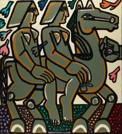 Wild in the Orchard_2021_America Martin_Oil/Acrylic_Figurative/Horse/Animals