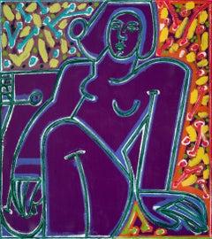 Woman in Colors Deep & Bright_2021 America Martin_Oil/Acrylic-Female Nude Figure