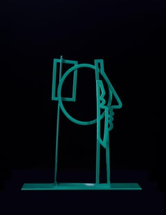 America Martin, Woman with Her Hair Down, Figurative Sculpture- Emerald Green