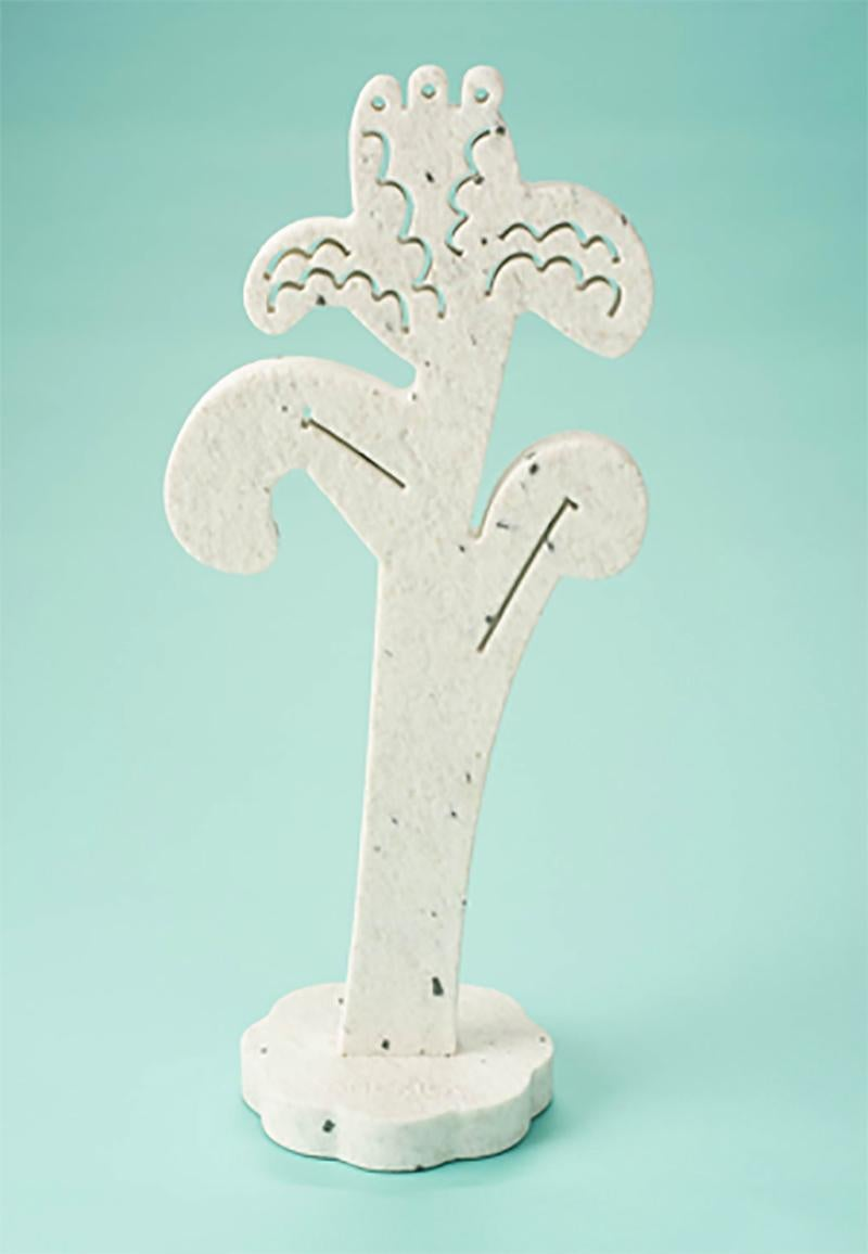 Oh Happy Iris (Tall)_2021_America Martin_Sand Blasted Pepper Marble Sculpture