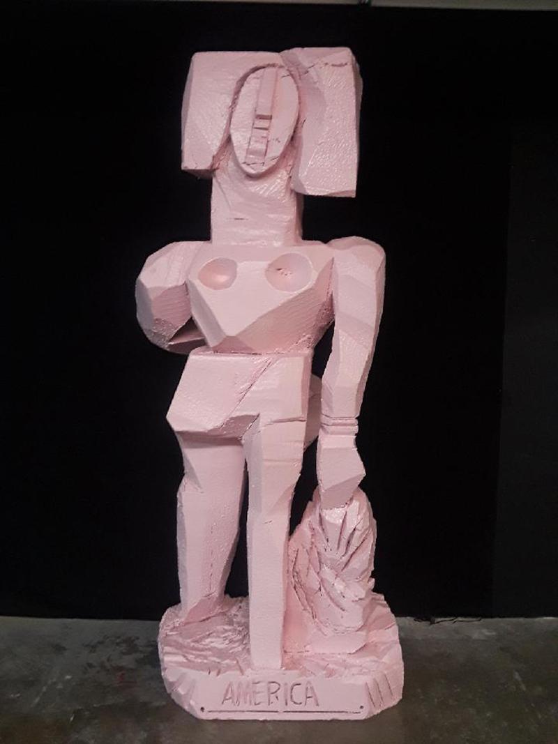Woman Walking by Rocks & Tide_2021_America Martin_Abstract Figurative Sculpture