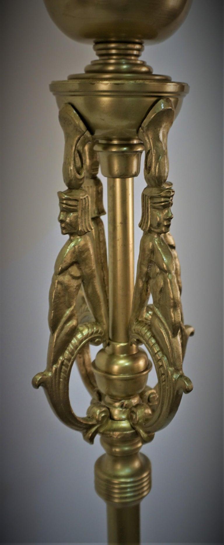 American 1920s Art Deco Torchiere Floor Lamp For Sale 2