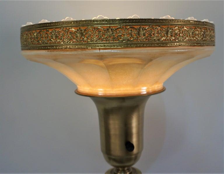 American 1920s Art Deco Torchiere Floor Lamp For Sale 3