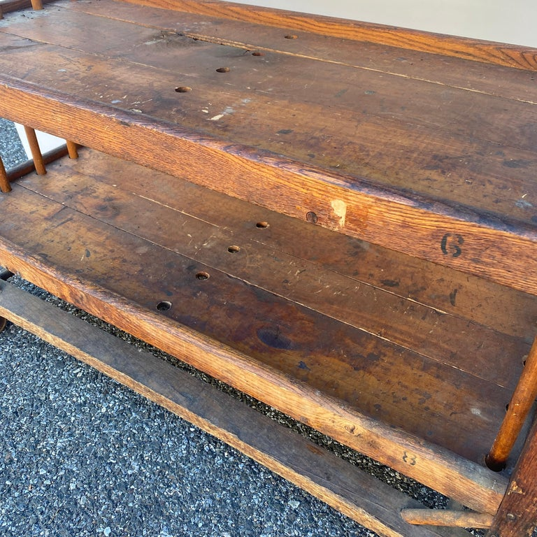 American 1930s Wooden Bread Rack Or Cart For Sale 5