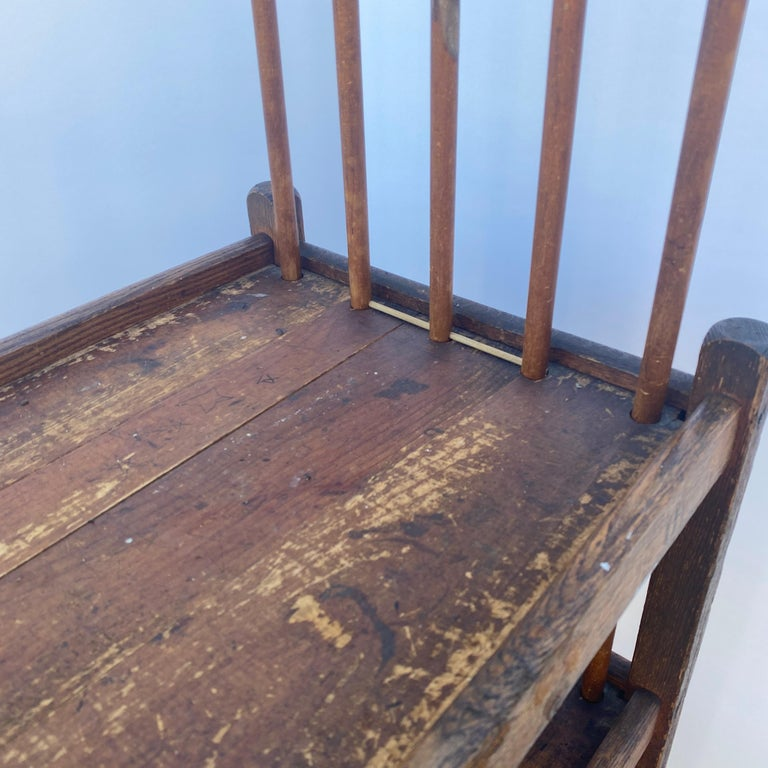 American 1930s Wooden Bread Rack Or Cart For Sale 11