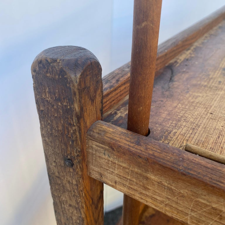 American 1930s Wooden Bread Rack Or Cart For Sale 12