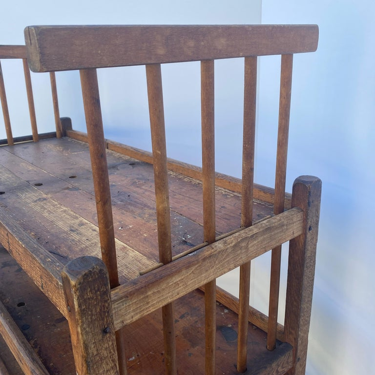American 1930s Wooden Bread Rack Or Cart For Sale 14