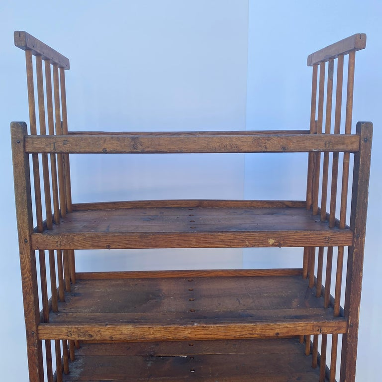 American 1930s Wooden Bread Rack Or Cart For Sale 2