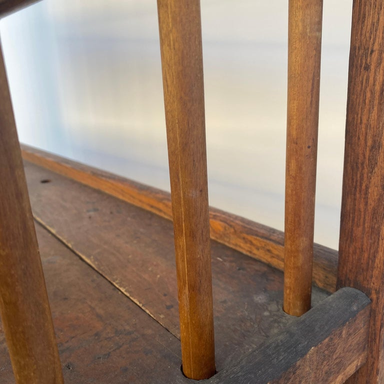 American 1930s Wooden Bread Rack Or Cart For Sale 3
