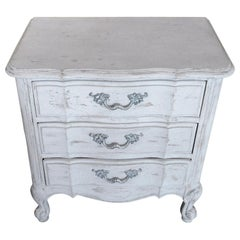 American 1970s Hand Painted Pine Chest of Drawers with Three Drawers