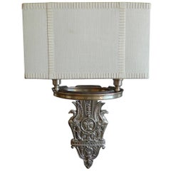 American 1970s Two-Light Wall Sconce