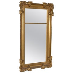 American 19th Century Carved and Gilded Full Length Mirror, circa 1890s
