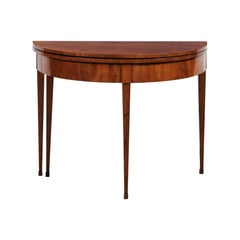 American 19th Century Federal Demi-Lune Card Table