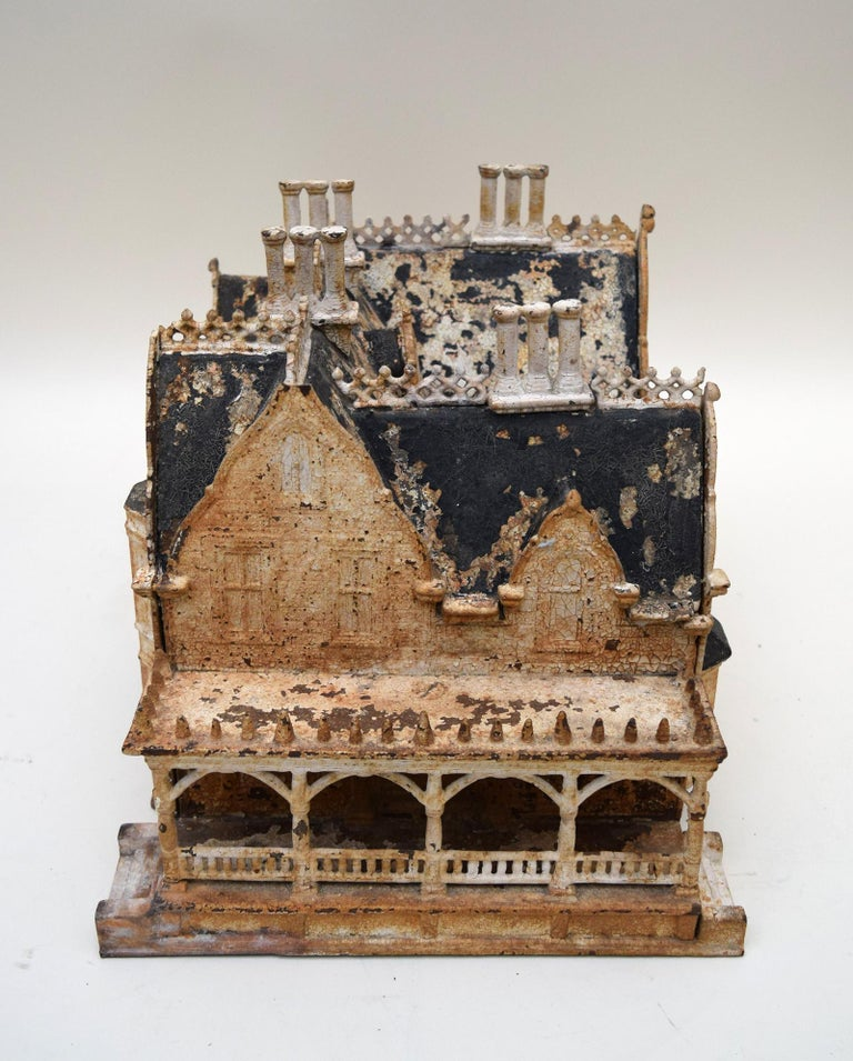 Cast American 19th Century Neo-Gothic Birdhouse