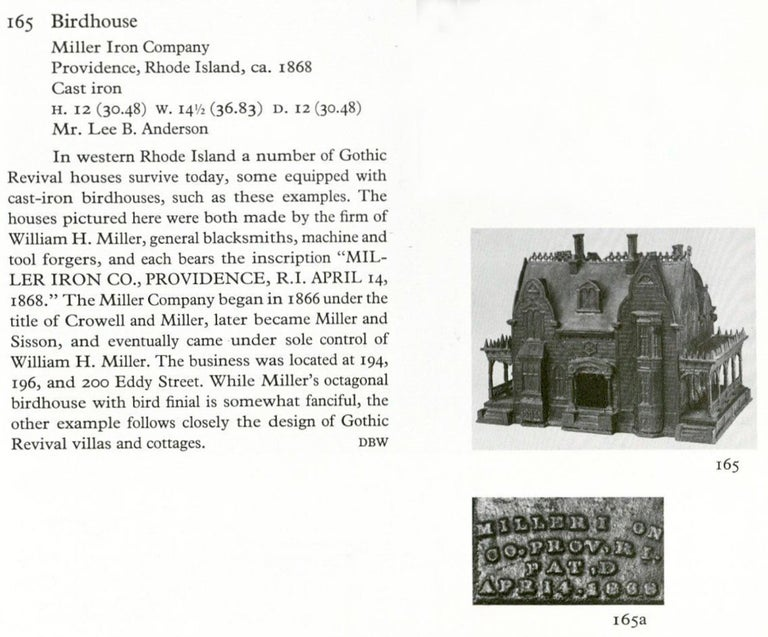 Mid-19th Century American 19th Century Neo-Gothic Birdhouse