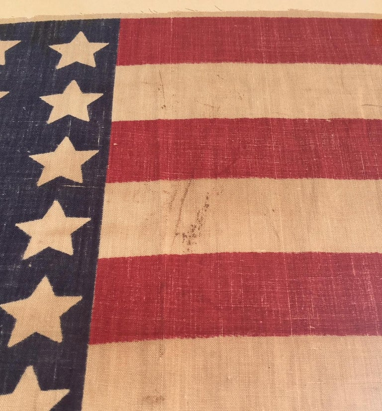 Antique 42 Star American flag commemorating Washington Statehood, circa 1890. This was never an official U.S. Flag by Act of Congress, but rather a