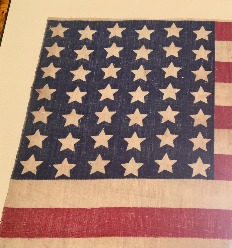 American 42 Star Flag, circa 1890 In Good Condition For Sale In Nantucket, MA