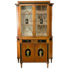 American Adam Style Satinwood Cabinet
