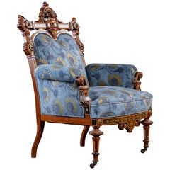 American Aesthetic Inlaid Gilt Armchair