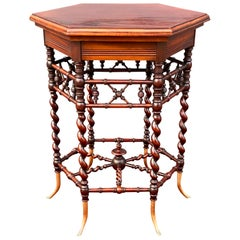 American Aesthetic Mahogany Occasional Table