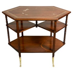 American Aesthetic Rosewood Table by A. &H. Lejambre, Philadelphia