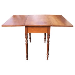 American Antique Maple Drop-Leaf Table