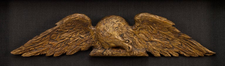 American Architectural Gilt Eagles, Hand Carved Matching Set, Late 19th Century For Sale 2