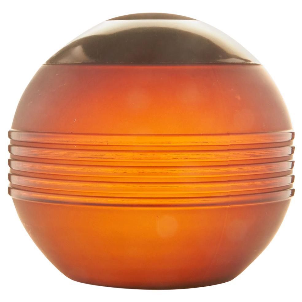 American Art Deco Bakelite, Chrome and Amber Glass Spherical Tobacco Humidor