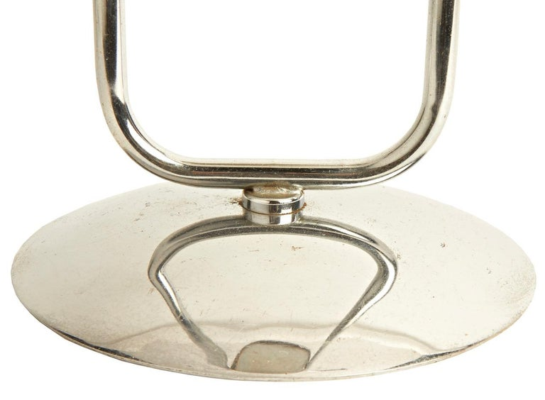 American Art Deco Chrome Theater or Hotel Lobby Floor Ashtray by Royalchrome In Good Condition For Sale In Port Hope, ON
