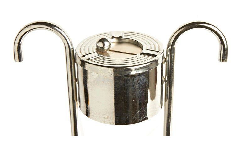 Mid-20th Century American Art Deco Chrome Theater or Hotel Lobby Floor Ashtray by Royalchrome For Sale