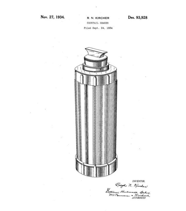 American Art Deco Cocktail Shaker with Original Ephemera For Sale 3