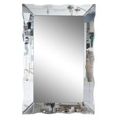 American Art Deco Etched Wall Mirror