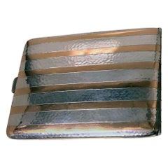 American Art Deco Gold and Sterling Silver Cigarette Case, circa 1930