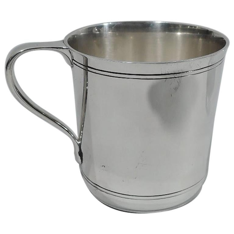 American Art Deco Modern Sterling Silver Baby Cup by Tiffany