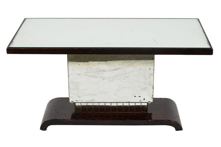 American Art Deco side table or small coffee table. Gorgeous example of American Art Deco style in perfect original condition.