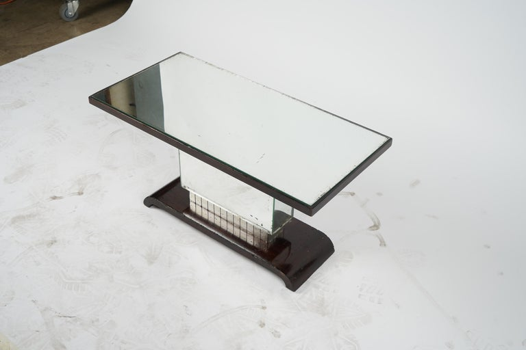 Appliqué American Art Deco Side Table or Small Coffee Table For Sale