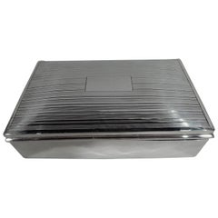 American Art Deco Sterling Silver Keepsake Jewelry Box