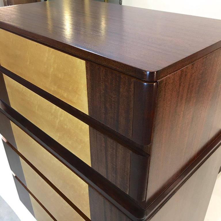 American Art Deco Tall Chest of Drawers by R-Way For Sale 5