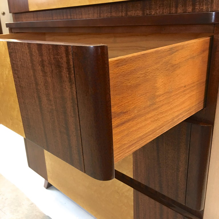American Art Deco Tall Chest of Drawers by R-Way For Sale 3