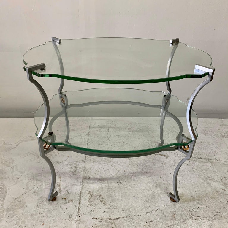 American Art Deco Two-Tier Sidetable For Sale 5