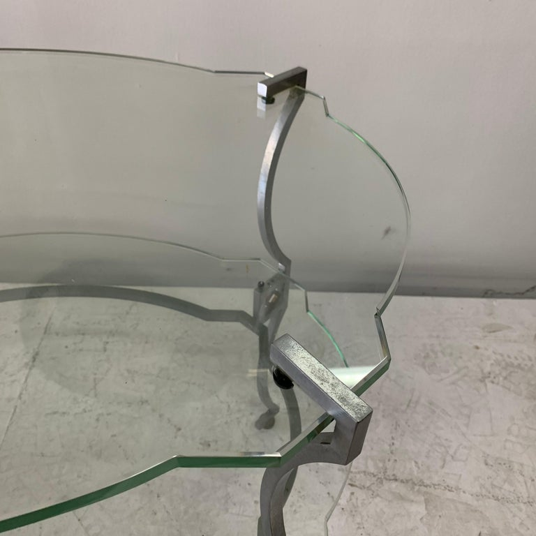 Mid-20th Century American Art Deco Two-Tier Sidetable For Sale