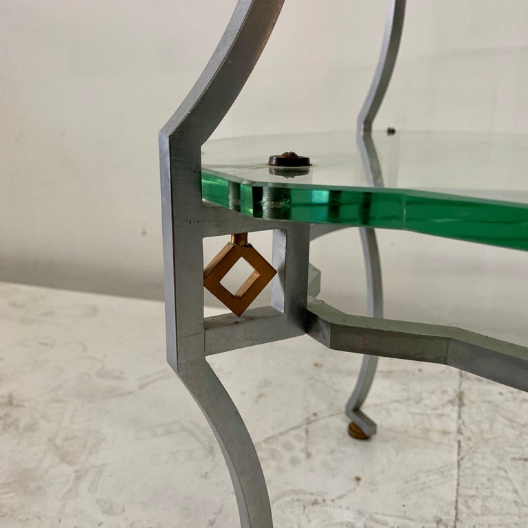 American Art Deco Two-Tier Sidetable For Sale 2