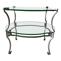 American Art Deco Two-Tier Sidetable